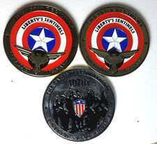 """Limited Edition Captain America 107th Commandos 2"""" Challenge Coin Set of 3"""