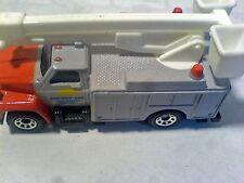 Camion Nacelle GMC Utility Truck, orange et gris, Matchbox de 1989
