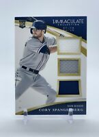 2015 Panini Immaculate #8 Cory Spangenberg /99 Triple Relic Rookie Card
