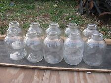10 pc Clear Glass 58 oz Coffee jar Fruit Jar Vinegar Jar small lid almost no lid