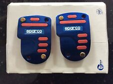 NEW BLUE SPARCO TWIN  BRAKE & CLUTCH PEDAL SET WITH RED INSERTS FOR BMW ETC