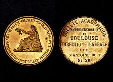 Médaille Société Académique Hispano Portugaise de Toulouse. Bronze doré
