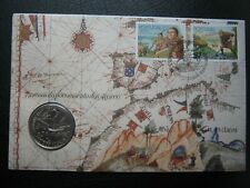 Azores 1989 100 Escudos Coin Cover ~ 550 Years of the Settlements of the Azores