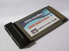 SCHEDA PCMCIA SERIAL ATA CARDBUS CARD NOTEBOOK SATA, 2 PORTE
