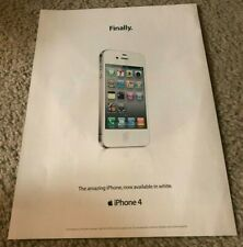 Apple Poster Genuine Ad Art Printed Year 2011 FOR iPhone 4 WHITE Rare Collectors