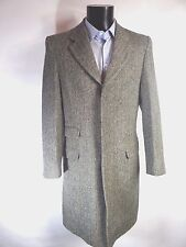 AQUASCUTUM Herringbone Substantial  Classic WOOL Coat Jacket UK 38 BNWT