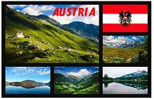 AUSTRIA - SOUVENIR NOVELTY FRIDGE MAGNET - BRAND NEW - GIFTS - SIGHTS / FLAGS