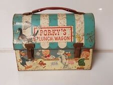 Vintage Lunchbox Porky's Lunch Wagon Bugs Bunny Sylvester Donald Duck