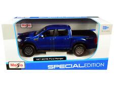 1/27 Maisto Special Edition 2019 Ford Ranger Pickup Truck Diecast Blue 31521