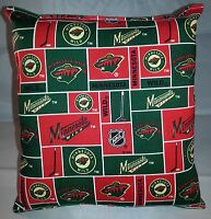 Minnesota Wild Pillow Wild Pillow  NHL Handmade in USA