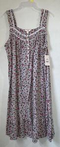 Secret Treasures womens nightgown size L 12-14 sleeveless gray new