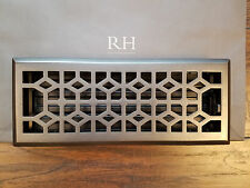 FANCY! RESTORATION HARDWARE DECORATIVE GRILLWORK VENT REGISTER COVER BRONZE 4x12