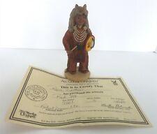 "All God'S Children 6"" Red Fox Native American Figurine W/ Coa & Box"