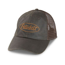 Peterbilt Motors Faux Waxy Cap - Brown Cotton Trucker Hat