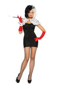 6 Pc Costume! Cruella De ville - 101 Dalmations Plus & Regular Sizes Adult Woman