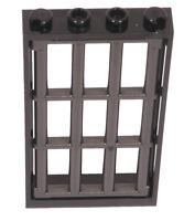 LEGO - Fenster Rahmen schwarz 1x4x6 m. Gitter perldunkelgrau 60596 92589 NEUWARE