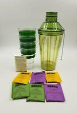Starbucks Shaken Iced Tea Kit Cup Straw Set w/ Shaker Green 40oz