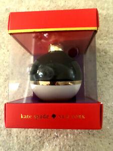 "KATE SPADE NY Lenox NIB $120. Set/4 ""Deck the Halls"" Christmas Ball Ornaments"
