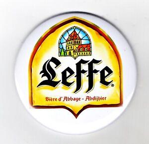 "Leffe Jumbo Fridge Magnet Beer Mat Bar Ale  3"" 75mm blade Sub pub monks"