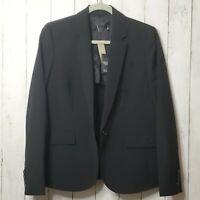 New! $298 J. Crew Campbell Traveler Blazer Size 10 Italian Wool Black Tollegno