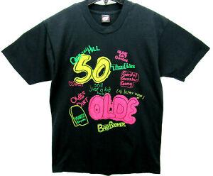 Vintage 50th Birthday Men's Size Large T Shirt Screen Stars Best Single Stitch