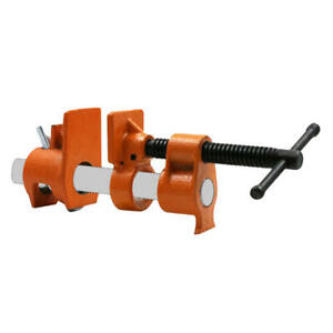 """3/4"""" Wood Gluing Pipe Clamp Set Heavy Duty PRO Woodworking Cast Iron"""