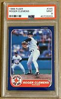 ROGER CLEMENS 1986 Fleer #345 Boston Red Sox 2nd Year PSA 9 Mint