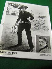 Vintage Western Actor Autograph Picture-LASH LA RUE .........SALE