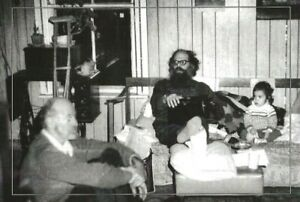 ALLEN GINSBERG & LAWRENCE FERLINGHETTI MAY 1973  BEAT WRITERS PHOTO POSTCARD #30