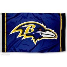 BALTIMORE RAVENS FLAG 3'X5' NFL TEAM LOGO BANNER: FREE SHIPPING