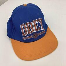 Vintage OBEY Blue & Orange Baseball Snapback Cap