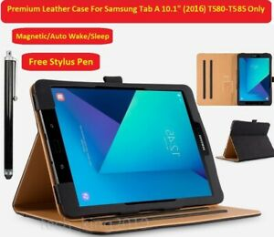"""For Samsung Galaxy Tab A T580/T58510.1"""" Luxury Leather Folio Case Cover (2016)"""