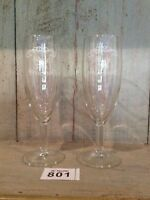 Pair Of 25th Silver Champagne Glasses Flutes Wedding Anniversary Gift