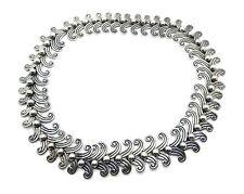 Vintage Margot de Taxco #5158 Double Swirl Necklace Bracelet Set Sterling Silver