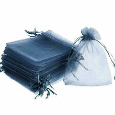 100 LARGE 12CMX16CM LUXURY NAVY BLUE ORGANZA GIFT BAGS WEDDING FAVOUR SWEET BAG