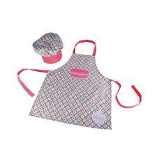 Janod J06582 schürze und Kochmützen-set Macaron rosa