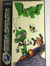 Bug! Video Game for Sega Saturn PAL TESTED includes manual UK free post