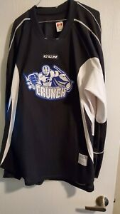 Syracuse Crunch AHL Black and White Practice Hockey Jersey Size 58+