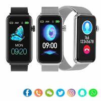 Frauen Damen Smartwatch Fitness Tracker Uhr für iPhone Huawei P30 P20 P10 Lite