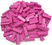 Lego 100 New Dark Pink Bricks 1 x 4 Dot Building Blocks Pieces