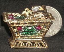 Sewing Basket Both Sides Open - New Pour in Antique Stone Mold #MP834 Miniature