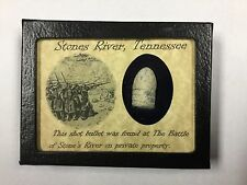 Shot Bullet from Stones River, Tennessee with Certificate of Authenticity