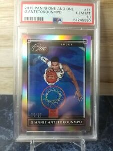 2019-20 One and One #11 Giannis Antetokounmpo BUCKS /99 GEM MINT PSA 10 *POP 2*