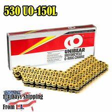 530 Gold Motorcycle O-Ring Chain 150 Links with 1 Connecting Link