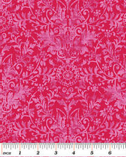 Dark Pink Damask, Glamour Inc., Michelle D'Amore for Benartex By 1/2 yd