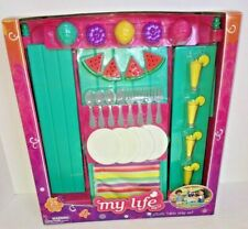 "My Life As American Girl Picnic Table Play Set Spring Summer Girls 18"" Dolls NEW"