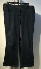 THEORY Size 8 Women's Jeans, Mid Rise Flare Dark Wash