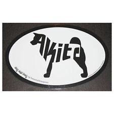 Akita Oval Euro Style Car Dog Decal Sticker