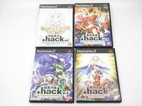 .hack // vol.1 2 3 4 set lot PlayStation 2 PS2 PlayStation2 Japan NTSC-J F/S