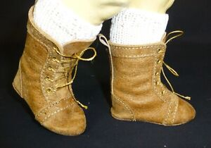 85mm ALL LEATHER BOOTS  for ANTIQUE DOLL , OOAK, VINTAGE DOLL, SHOES